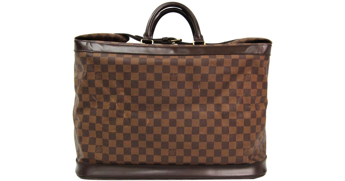 2e401642a91f Lyst - Louis Vuitton Damier Ebene Canvas Grimaud Travel Bag in Brown