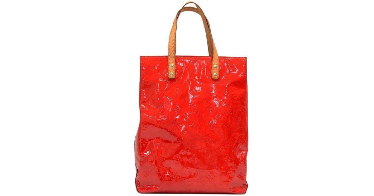 5d904c545055 Louis Vuitton Sunset Monogram Vernis Reade Mm Bag in Orange - Lyst