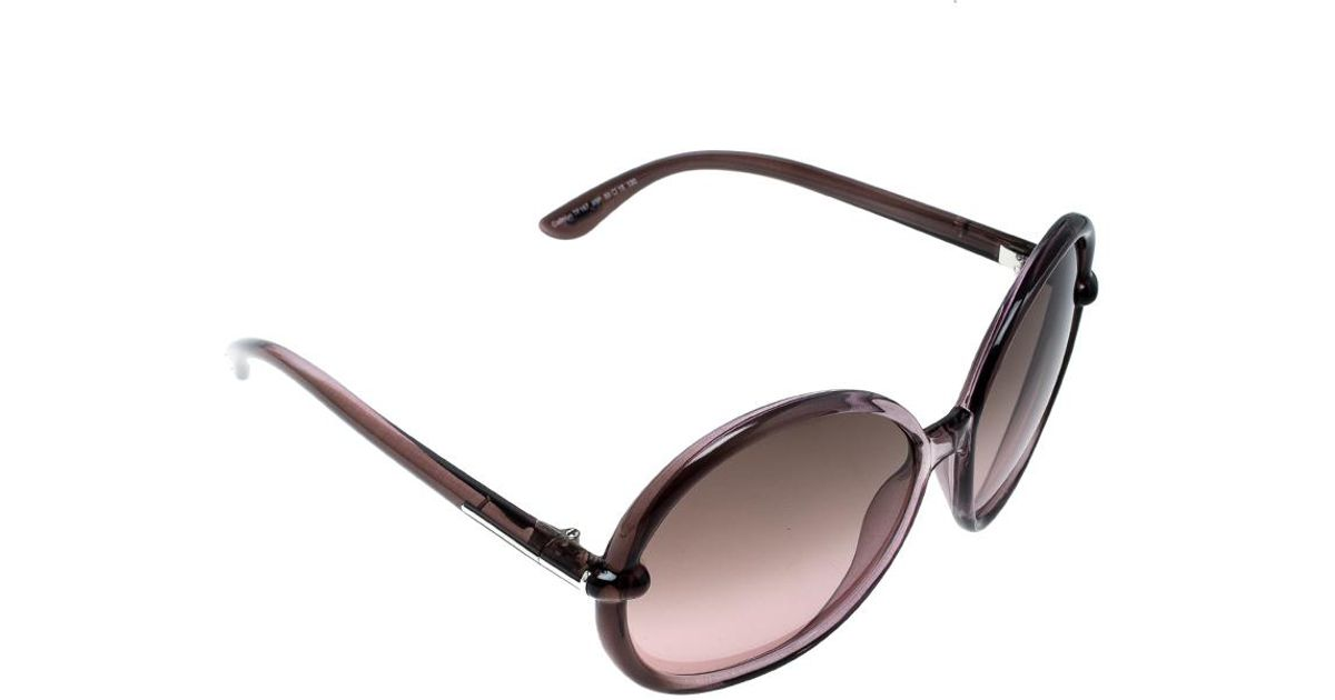c31ccbb50e5 Lyst - Tom Ford Lilac Tf 167 Caithlyn Oversized Round Sunglasses in Purple