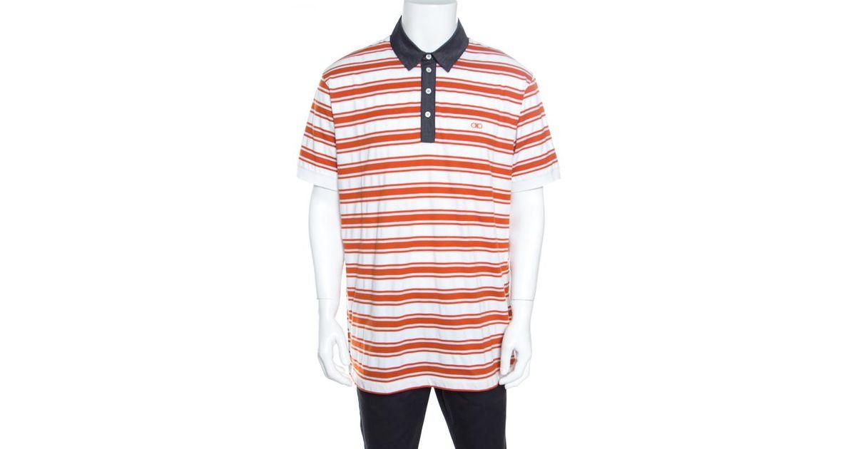 Authentic Marina Yachting Orange w// Black Contrast Collar Polo Shirt S-XL-XXL