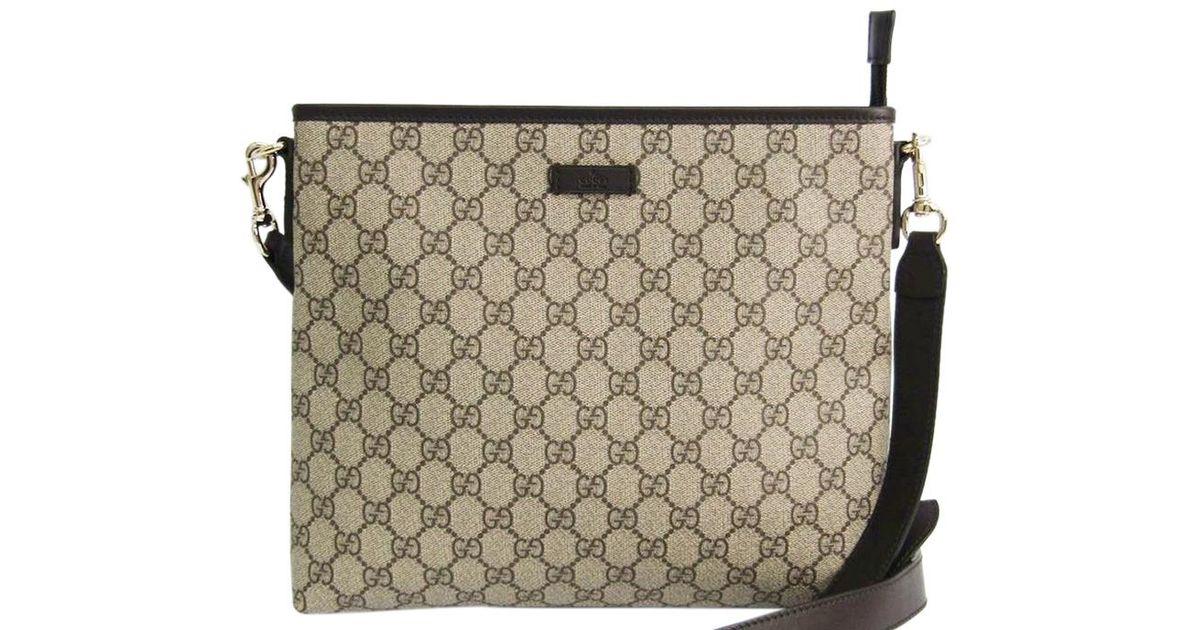 03b7d95ddff Lyst - Gucci Beige ebony Gg Supreme Coated Canvas Messenger Bag in Brown  for Men