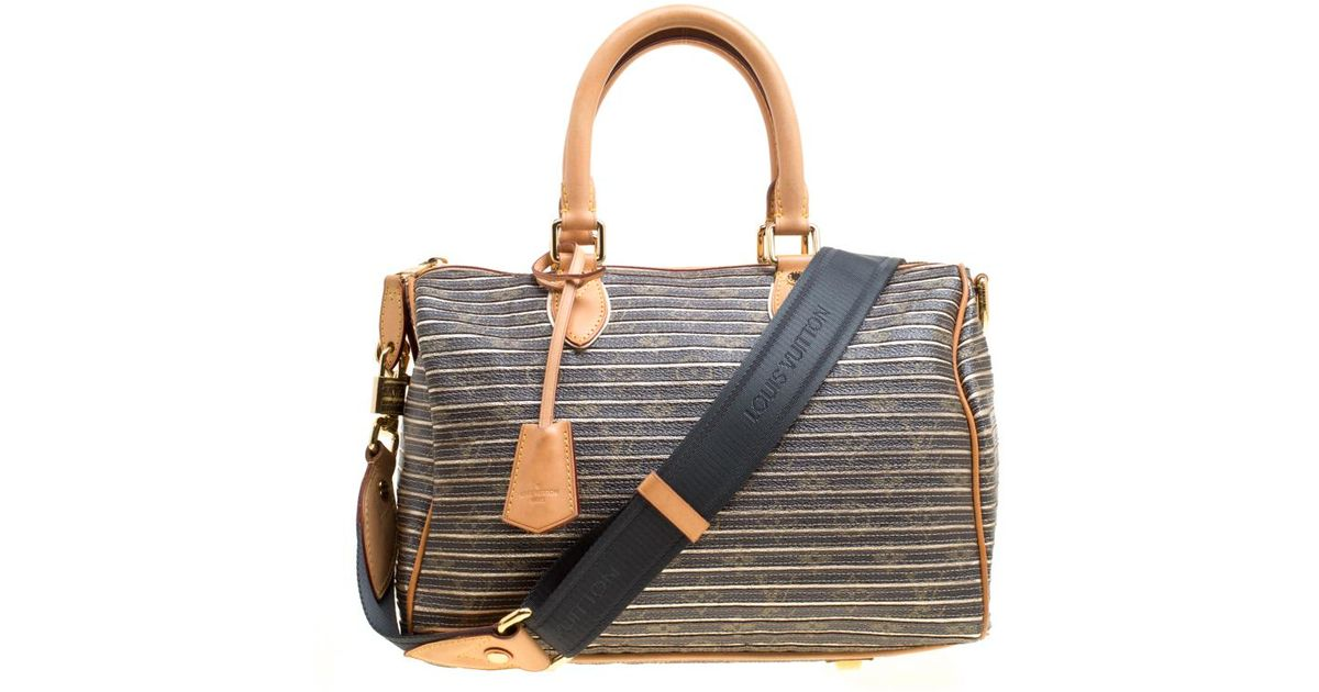 22b9b55fa1be Lyst - Louis Vuitton Argent Monogram Canvas And Leather Limited Edition  Eden Speedy 30 Bag in Brown
