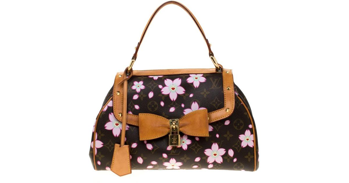 99a6d9fed7cf Lyst - Louis Vuitton Monogram Canvas Limited Edition Cherry Blossom Sac  Retro Pm Bag in Brown