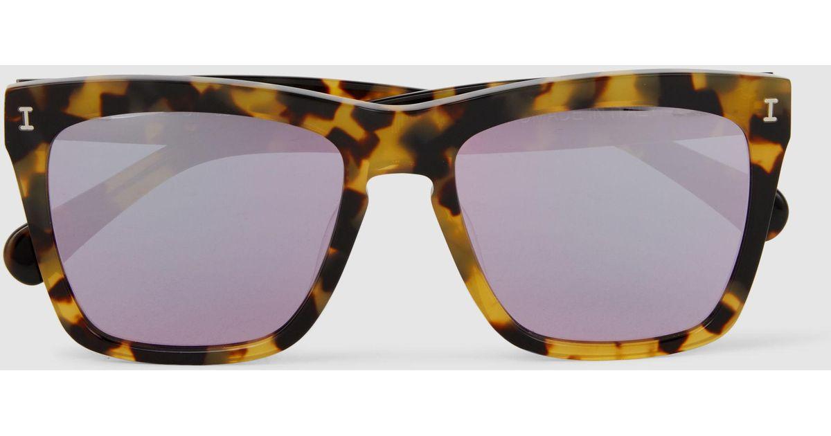 Los Feliz Square Frame Sunglasses Illesteva AMrPXsSh
