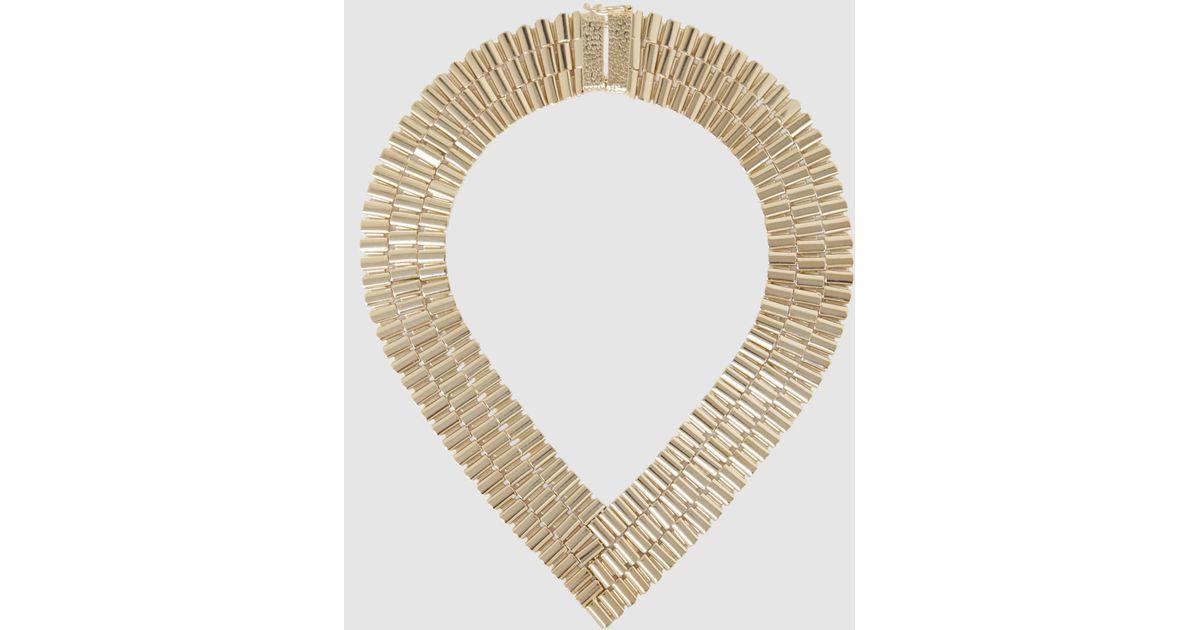Rosantica Casta Chain Link Gold-Tone Necklace OR9iDLiWKx