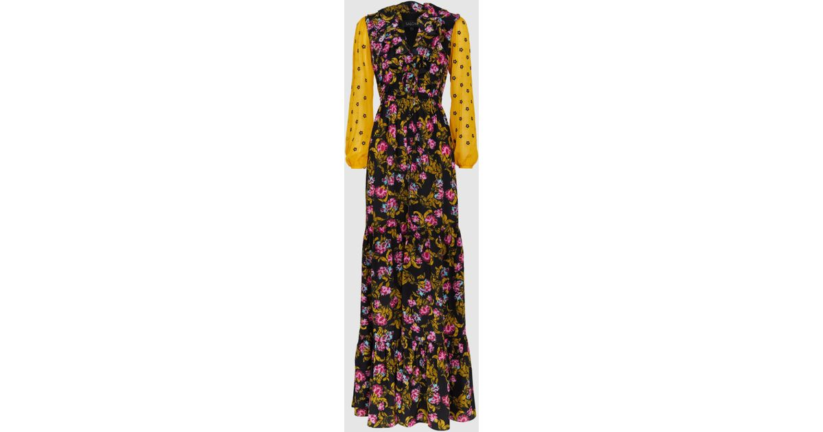 0883de3265 Saloni Ginny Floral Silk-georgette Maxi Dress - Lyst
