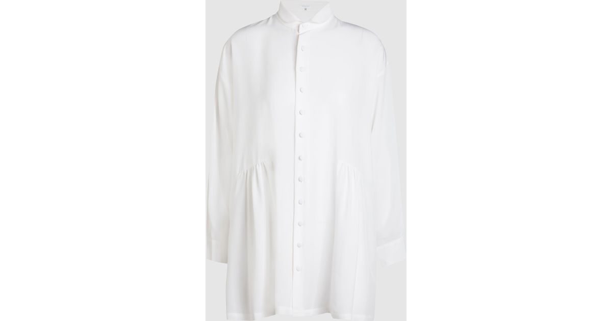 Ruched Silk Shirt Eskandar Buy Cheap With Paypal Cheap Sale Shop Offer Best Buy Amazon For Sale lXwmduIX3