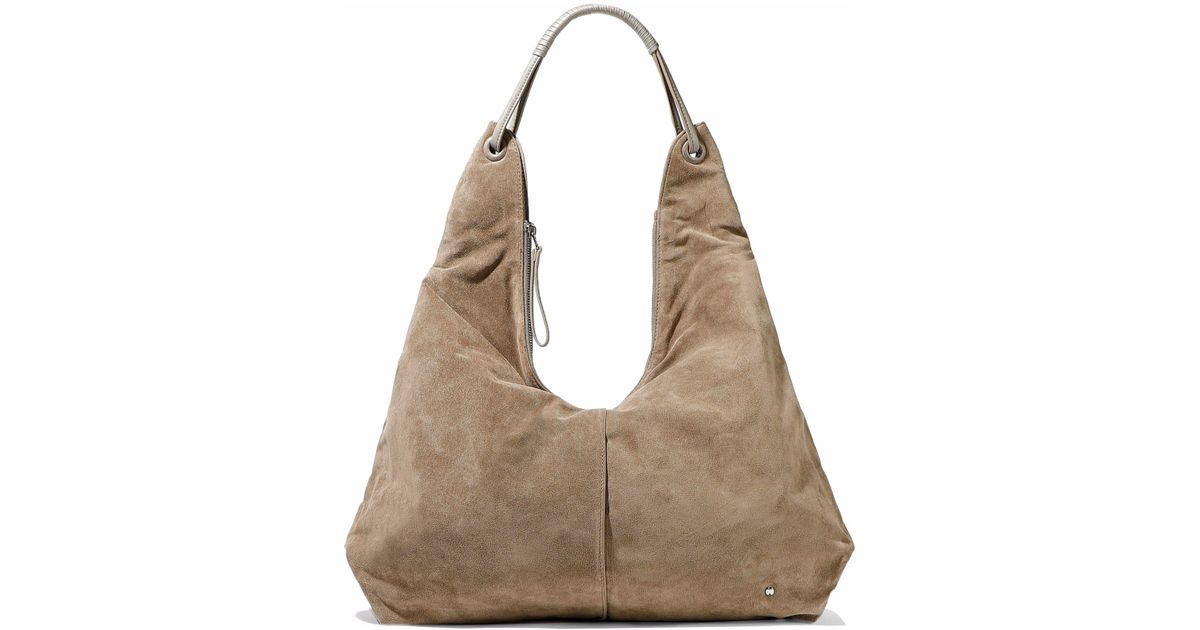 92d6c51bfe Lyst - Halston Heritage Ali Leather-trimmed Suede Tote