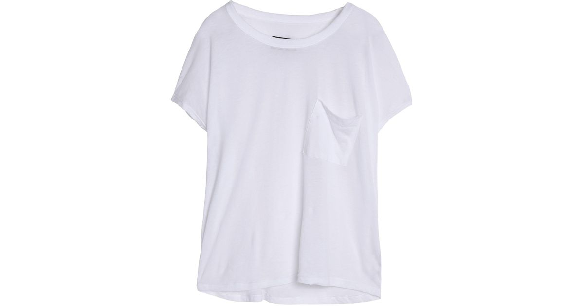 Rta Woman Distressed Cutout Cotton And Cashmere-blend Jersey T-shirt Pink Size S Rta Cheap Lowest Price Buy Cheap Looking For WLf5HGlB