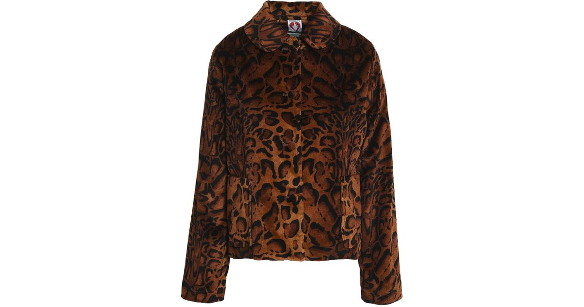 533eb70cf239 Shrimps Woman Printed Velvet Jacket Animal Print - Lyst