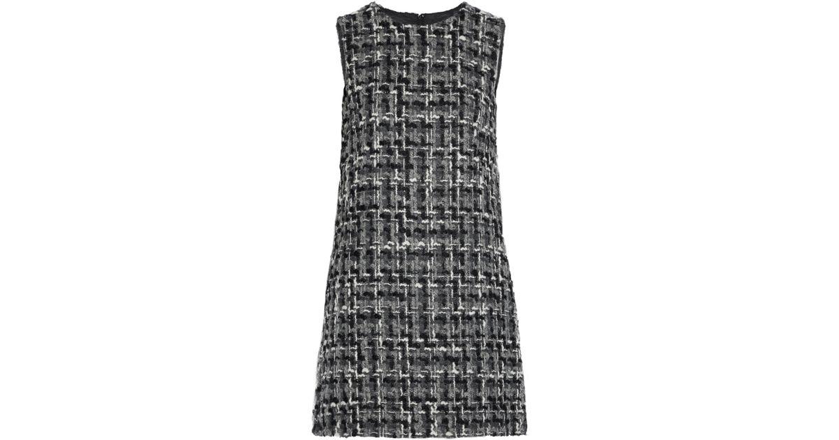 e43718a435b655 Lyst - Dolce   Gabbana Woman Wool-blend Bouclé-tweed Mini Dress Gray in Gray