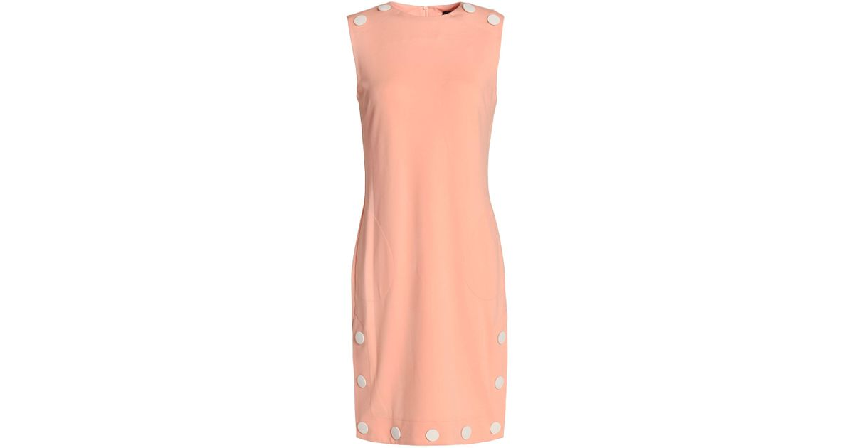 Best Supplier Love Moschino Woman Button-detailed Stretch-jersey Dress Pastel Orange Size 38 Love Moschino Clearance Shop For New Arrival Fashion Discount Largest Supplier Cheap Largest Supplier crBi3ca5Ye