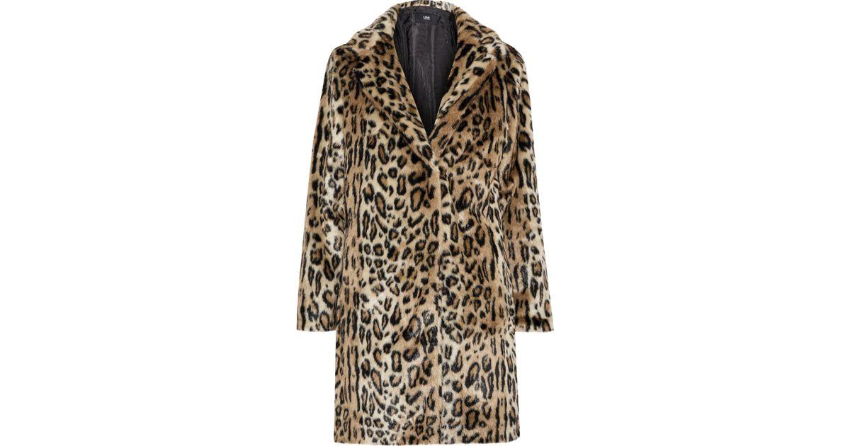 c4919db06287 Line Woman Joan Leopard-print Faux Fur Coat Animal Print - Lyst