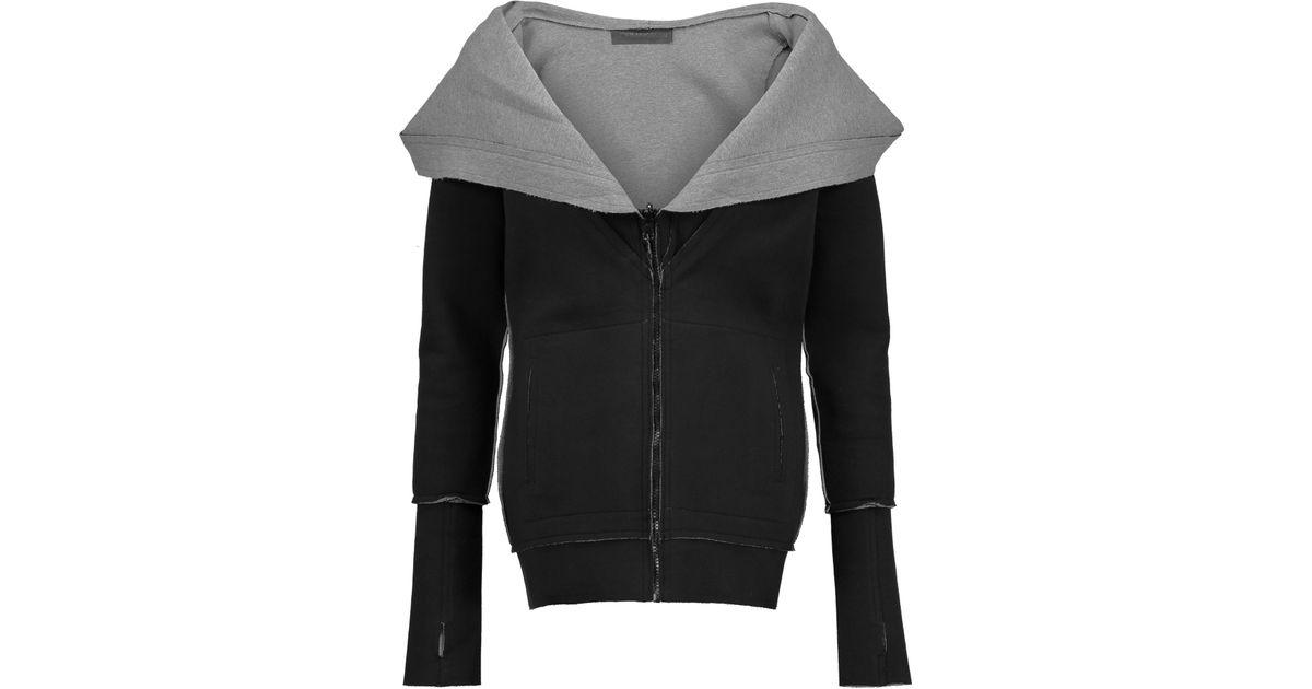Norma kamali reversible stretch cotton hooded sweatshirt - Norma kamali costumi da bagno ...