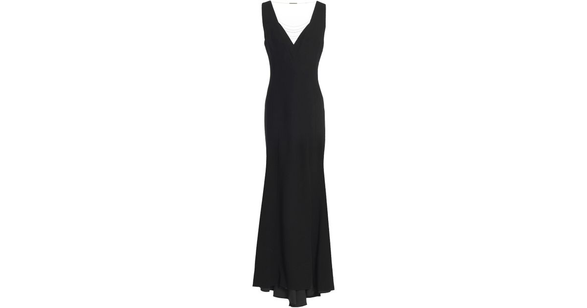 d1a956467e221 Elie Tahari Woman Embellished Tulle-paneled Crepe Gown Black in Black - Lyst