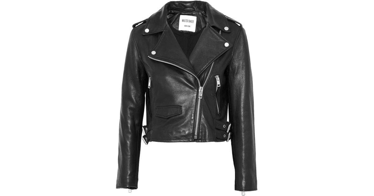 fe4f1f1654663 W118 by Walter Baker - Black Liz Leather Biker Jacket - Lyst