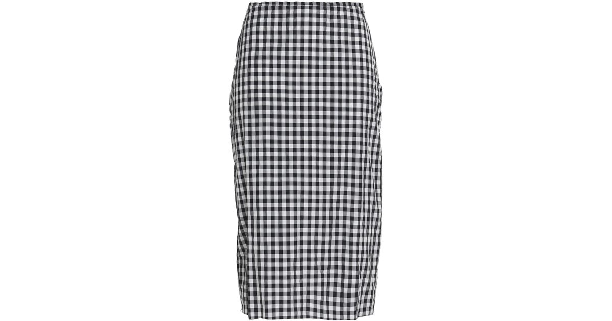 a9f764648e Marques'Almeida Gingham Seersucker Skirt in Black - Lyst