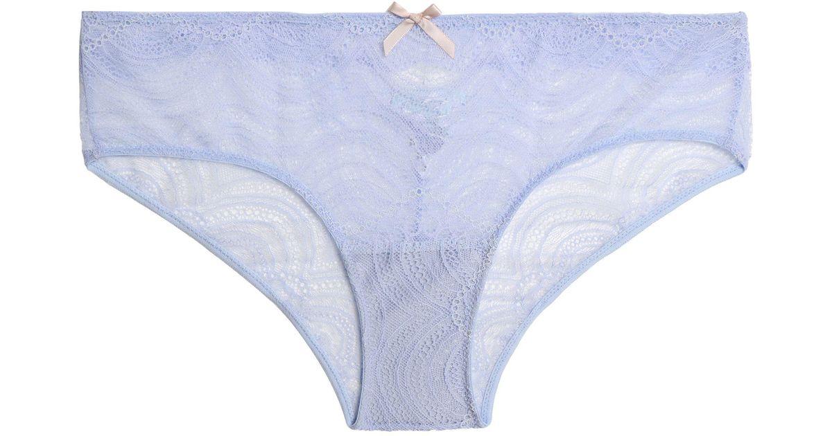 Eberjey Woman Mid-rise Lace Briefs Indigo Size L Eberjey Low Cost Sale Online A8ZRQJ