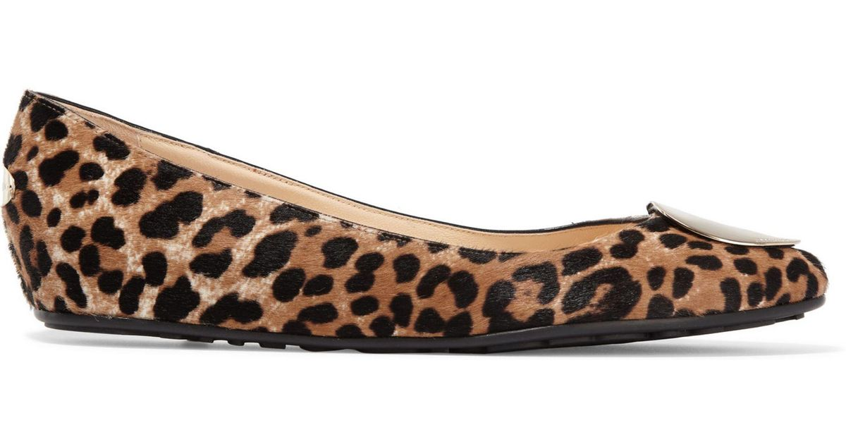 81aebbd4e950 Lyst - Jimmy Choo Woman Wray Leopard-print Calf Hair Ballet Flats Animal  Print in Brown