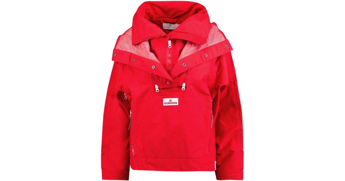 f89f9909d1 adidas By Stella McCartney Hooded Faille Ski Jacket in Red - Lyst