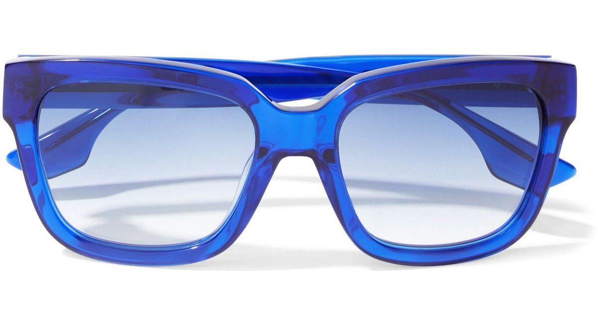 4abc829d8ae08 McQ Square-frame Acetate Sunglasses Bright Blue in Blue - Lyst