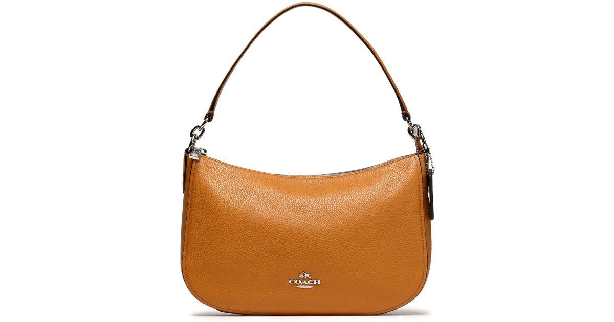 bd012d3240 Coach Leather Shoulder Bag in Brown - Lyst