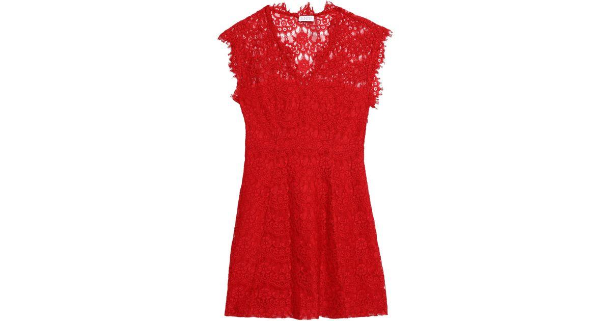Claudie Pierlot Woman Corded Lace-paneled Crepe-satin Dress Pastel Pink Size 40 Claudie Pierlot 98w58P5How