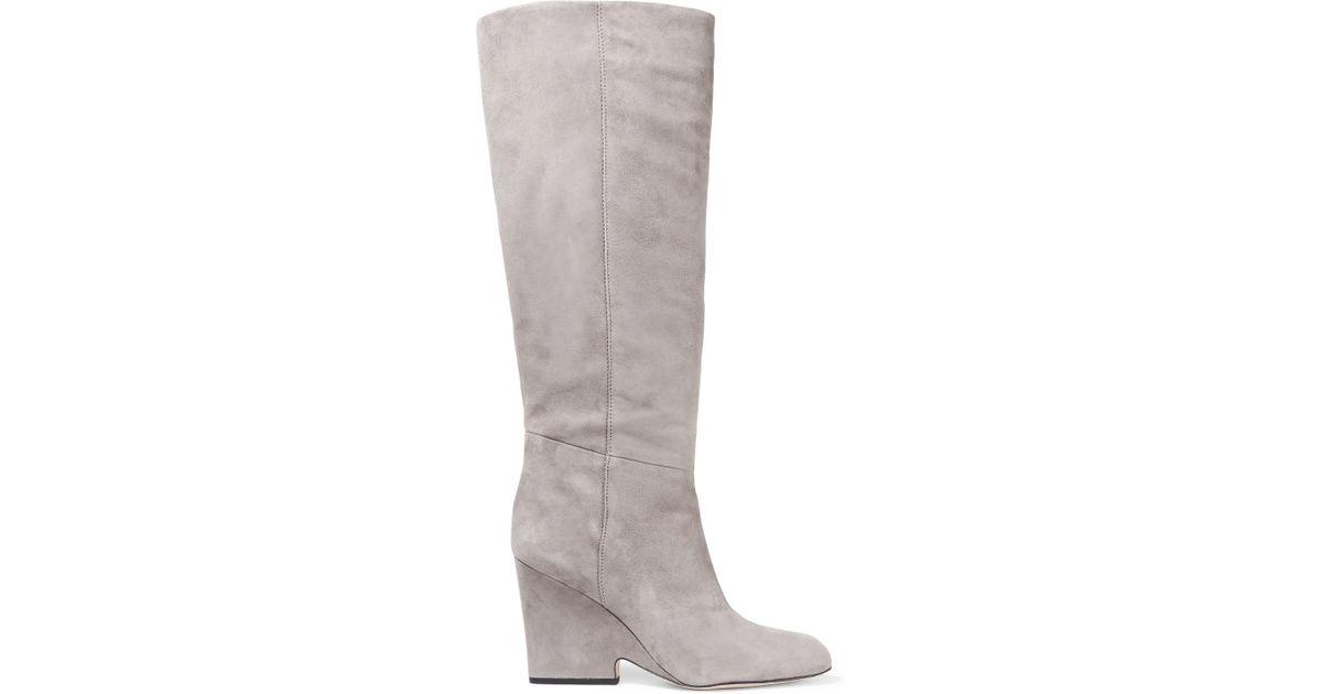 081b7dd87 Lyst - Sam Edelman Whitney Suede Knee Boots in Gray