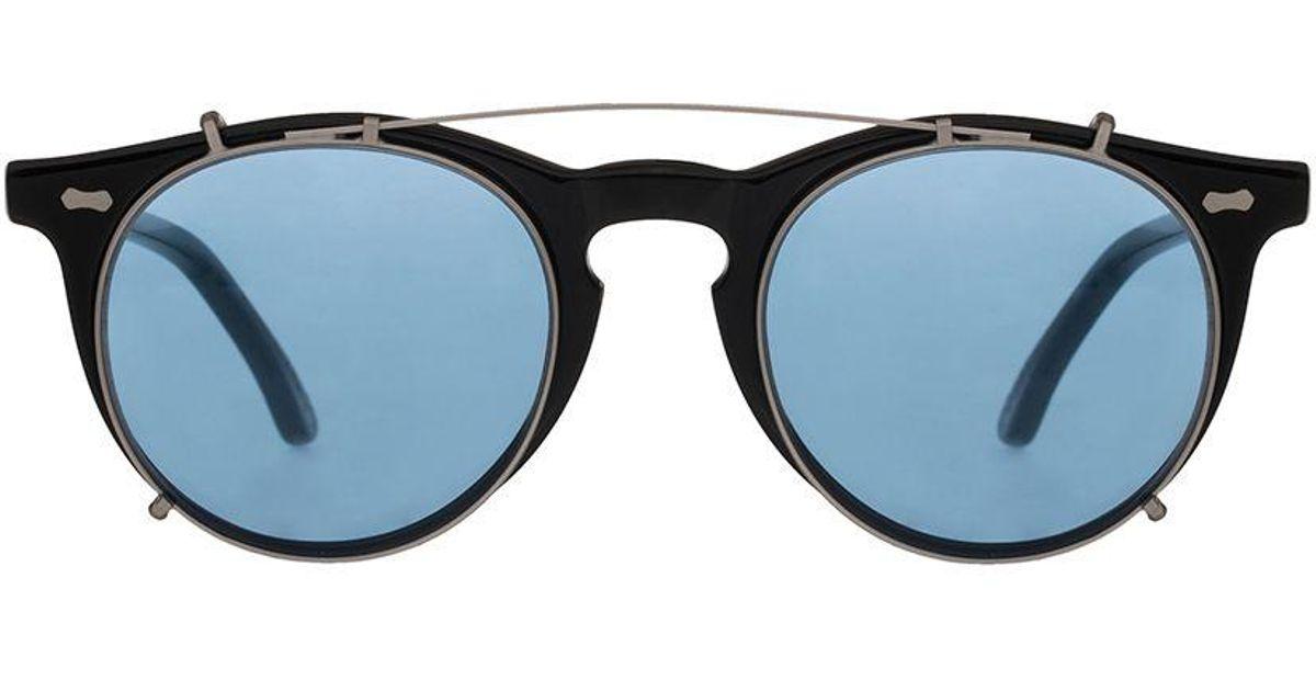 513847c5d6 Lyst - The Bespoke Dudes Eyewear Clip Silver Metal Blue Lens Sunglasses  Frames in Metallic for Men