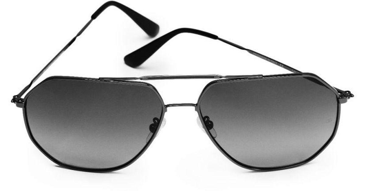 b2de3533c1 Lyst - Oliver Goldsmith Piero (1970) Polished Gun   Grey (zeiss Polarised  Lenses) Sunglasses in Gray for Men
