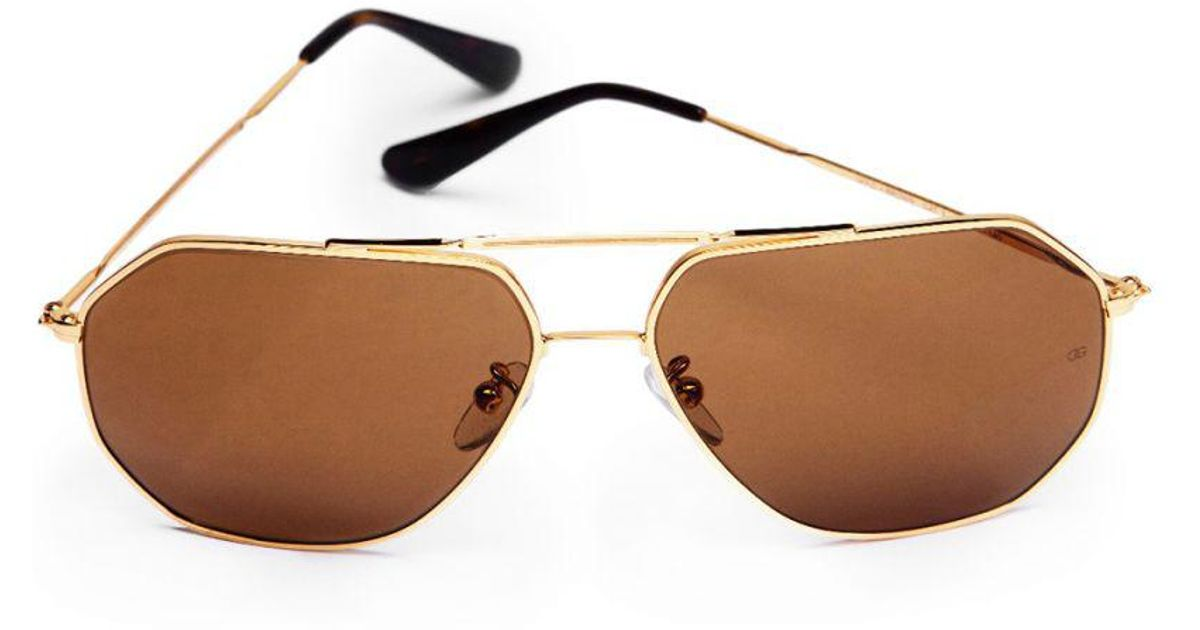 379dffa36d Oliver Goldsmith Piero (1970) Polished Gold   Brown (zeiss Polarised Lenses)  Sunglasses in Metallic for Men - Lyst