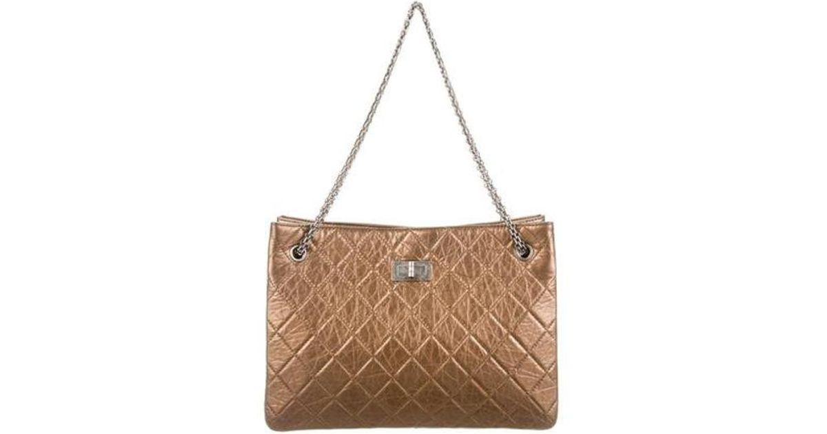3d23a2bfd9e Lyst - Chanel Reissue Tote in Metallic