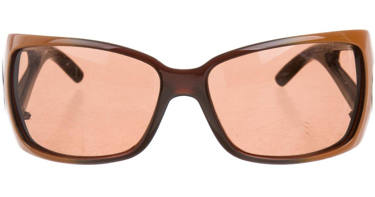 f399a950d0 Lyst - Marc Jacobs Oversize Oval Sunglasses Orange