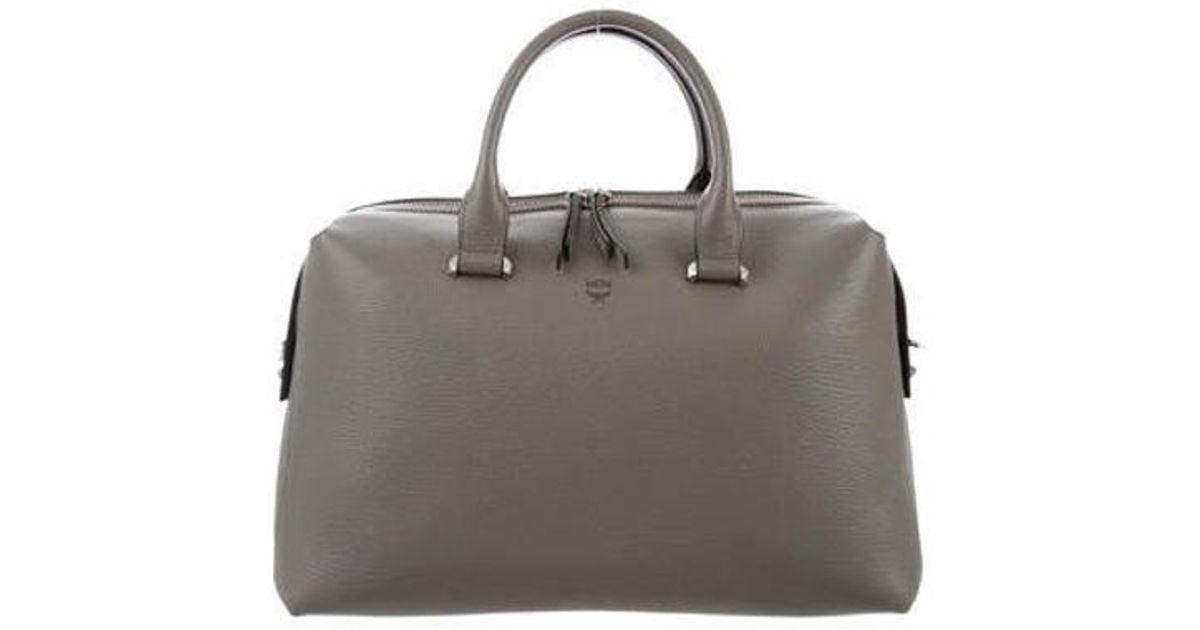 e12e82bda097 Lyst - Mcm Medium Ella Boston Bowler Bag Grey in Metallic