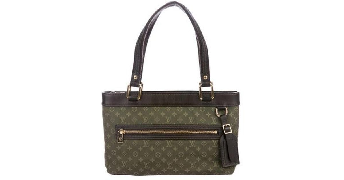 32fe6884f94 Lyst - Louis Vuitton Mini Lin Lucille Pm Olive in Green