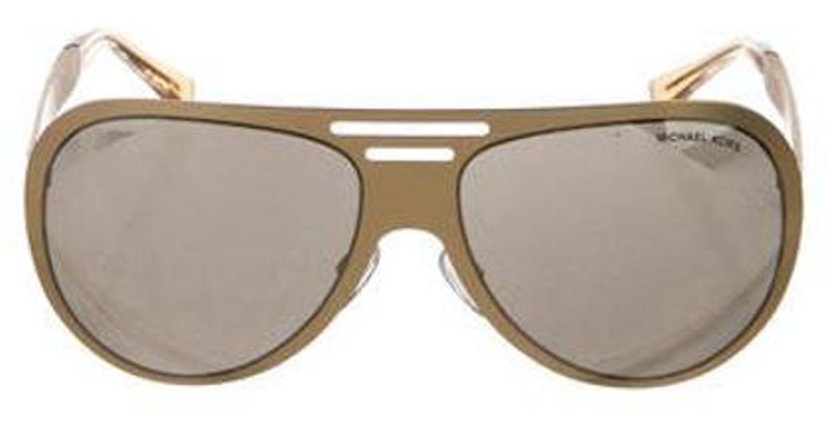 8f84bab64eba Lyst - Michael Kors Clementine Tinted Sunglasses Gold in Metallic