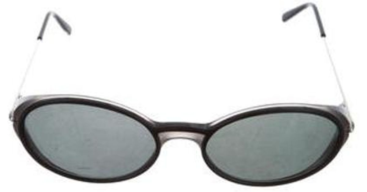 1566b523590a Lyst - Cartier Oval Tinted Sunglasses W  Tags Black in Metallic for Men