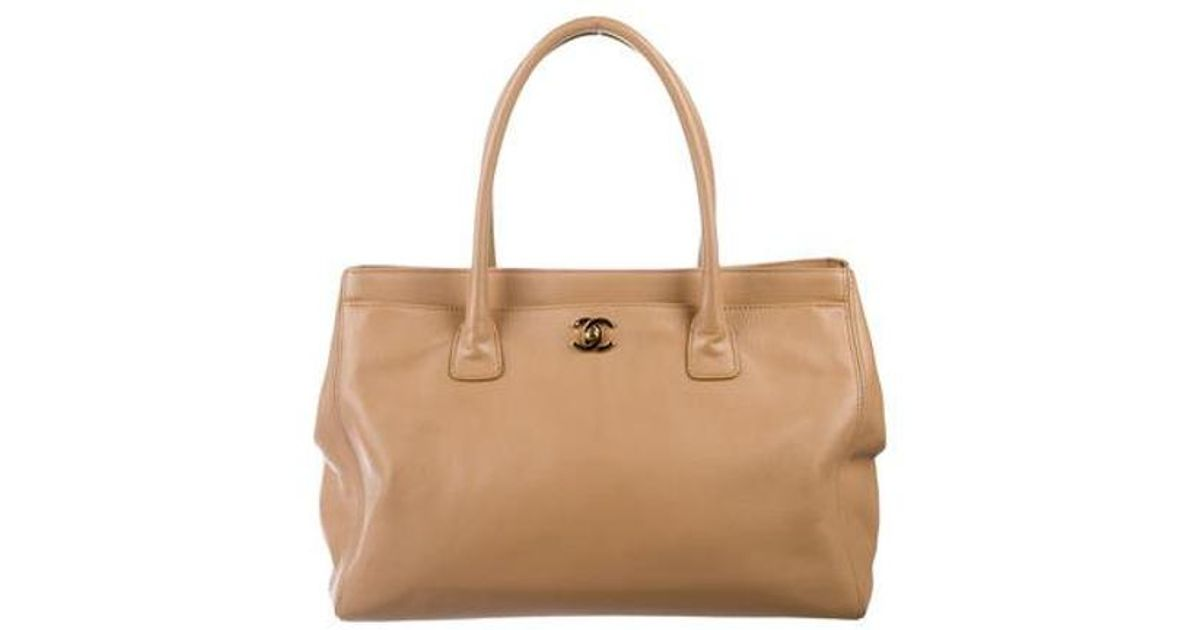 fc22621c79c8 Lyst - Chanel Executive Cerf Tote Brown in Metallic