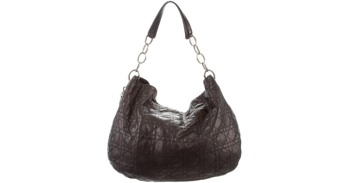 Lyst - Dior Cannage Sac De Ville Black in Metallic a865a222fdbae