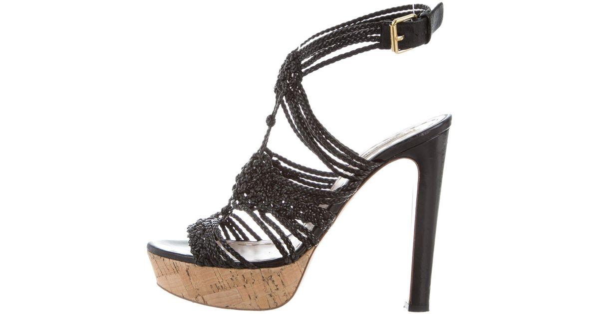 Miu Miu Woven Leather Platform Sandals cheap sale footlocker view sale online free shipping new styles footlocker pictures vMrm2N7hk