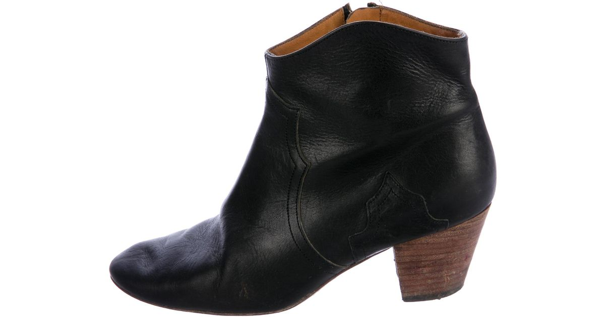 Isabel Marant Dicker Round-Toe Ankle Boots cheap sale for nice outlet find great clearance footaction cheap countdown package zUinJ