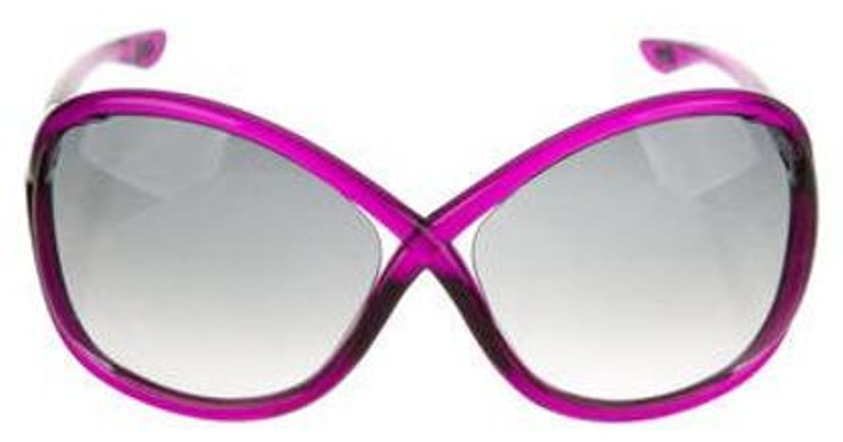 3c3e99b00d1 Lyst - Tom Ford Whitney Tinted Sunglasses Violet in Purple
