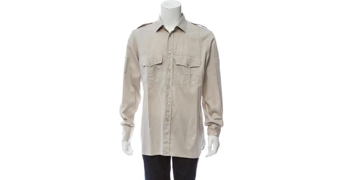 0bf11b676ce Lyst - Tom Ford Utility Button-up Shirt Khaki in Natural for Men