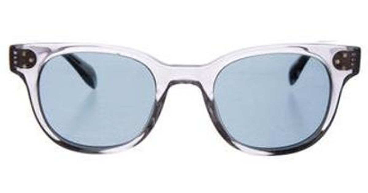 f02f30ae0f Lyst - Oliver Peoples Afton Sun Tinted Sunglasses in Blue
