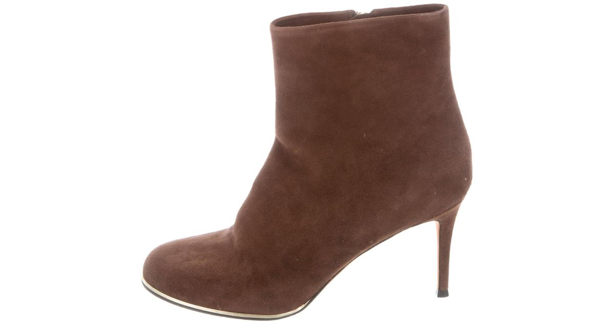 Givenchy Suede Round-Toe Boots sneakernews online QBi9mDhG