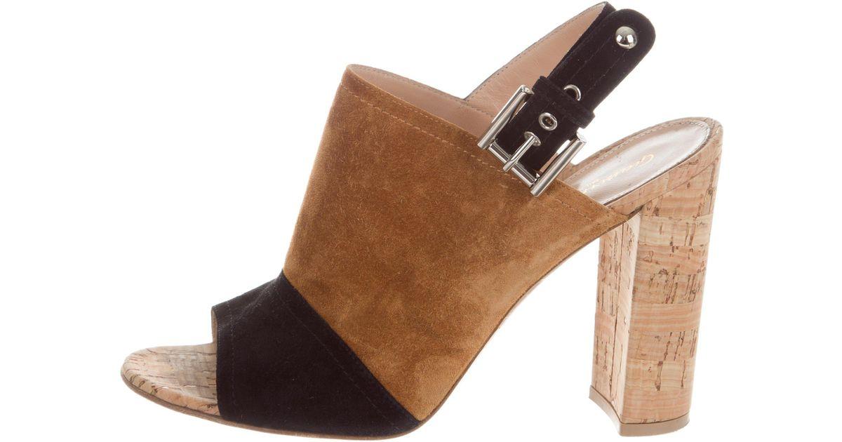 Gianvito Rossi Suede Bicolor Sandals cheap sale exclusive outlet marketable BaQSR