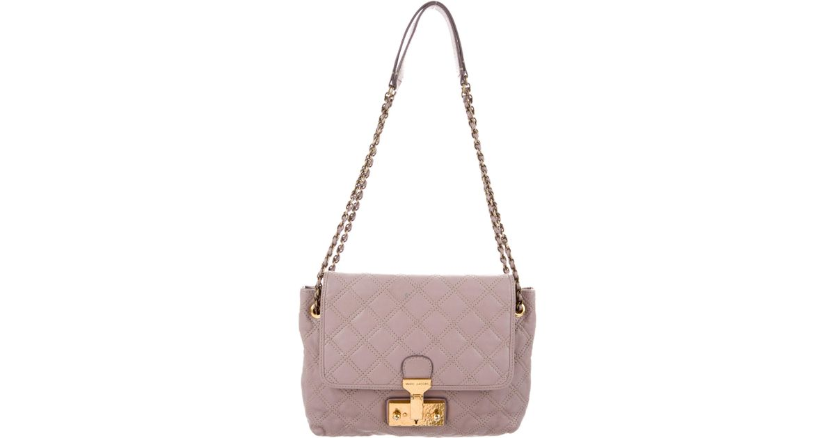 200603a0fa77 Lyst - Marc Jacobs Baroque Xl Single Quilted Shoulder Bag Gold in Metallic