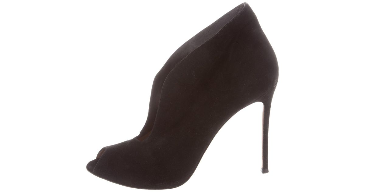 buy cheap for sale Gianvito Rossi Suede Ruched Peep-Toe Pumps sale outlet locations cheap online clearance in China clearance cheap online Y5TMkWtZc