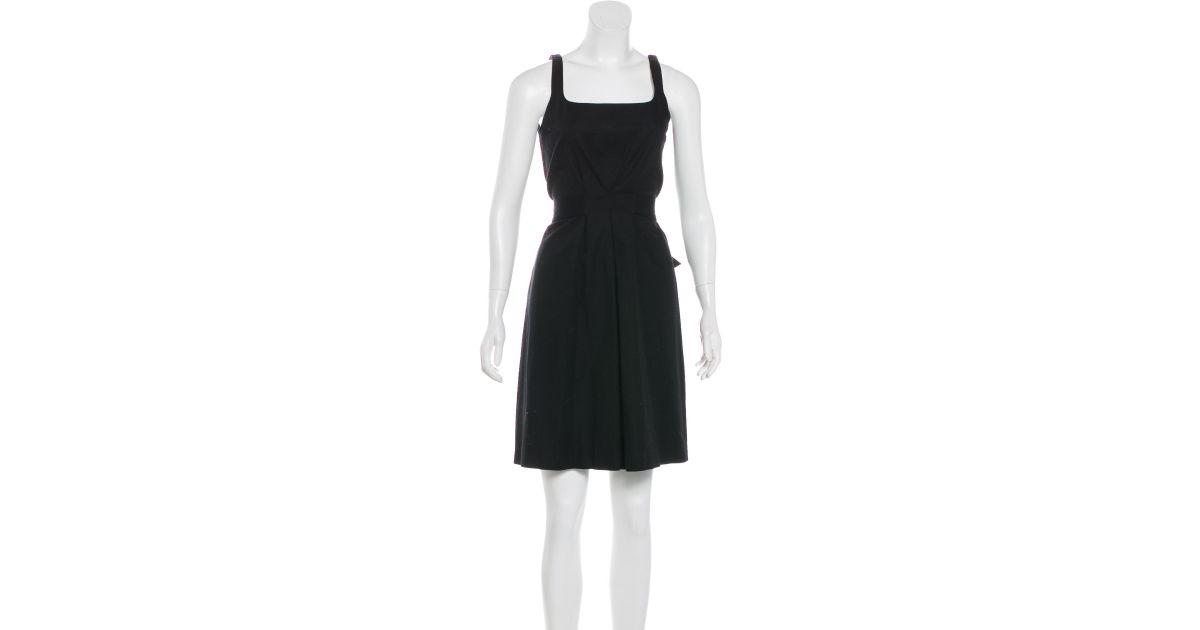 ed2ac4fe3a22 Lyst - Emilio Pucci Sleeveless Mini Dress in Black
