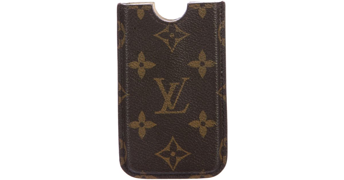 4cdcca50040a Lyst - Louis Vuitton Monogram Iphone 4 Hardcase Brown in Natural
